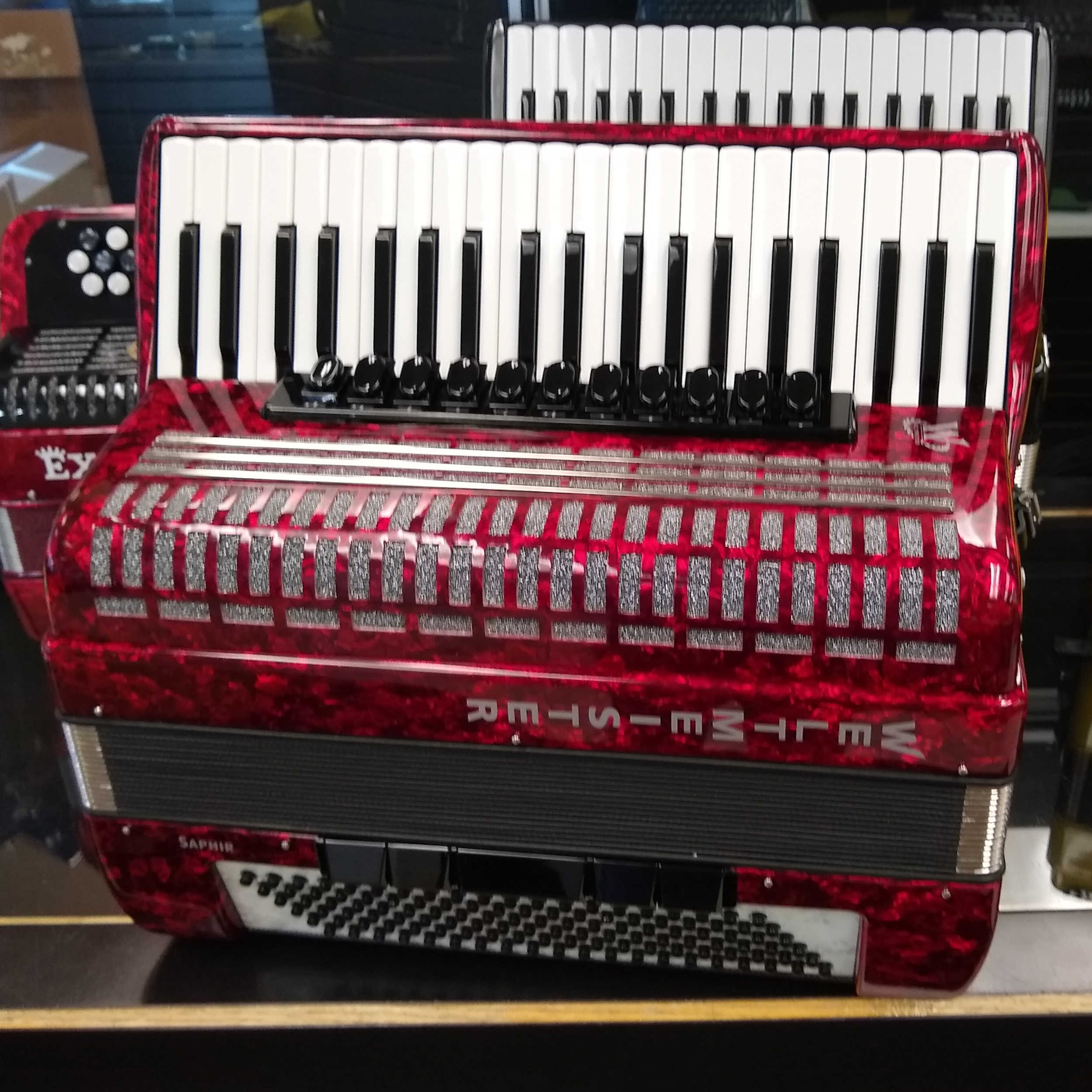 Weltmeister Saphire Piano Accordion 120 Bass - Red