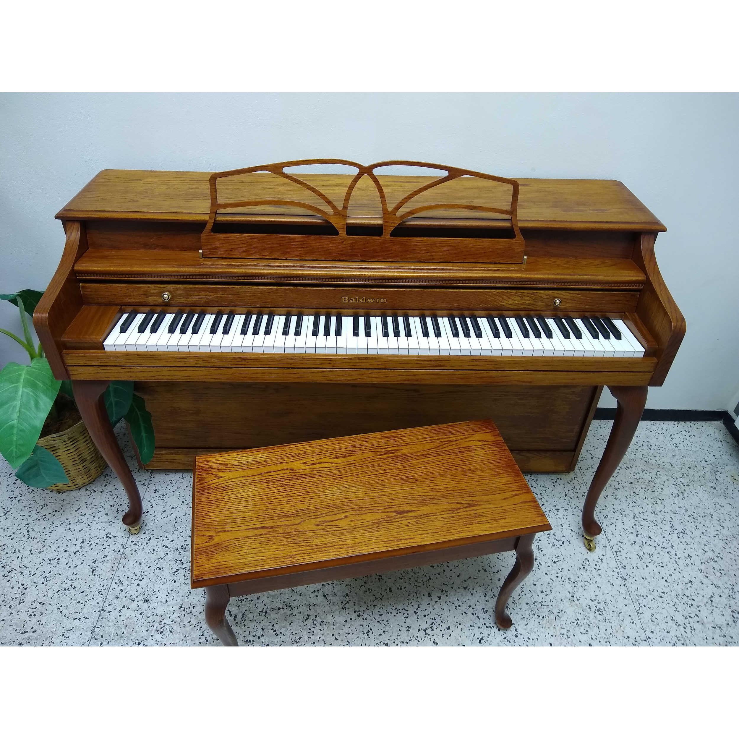 Baldwin Classic Upright Piano - Oak Finish