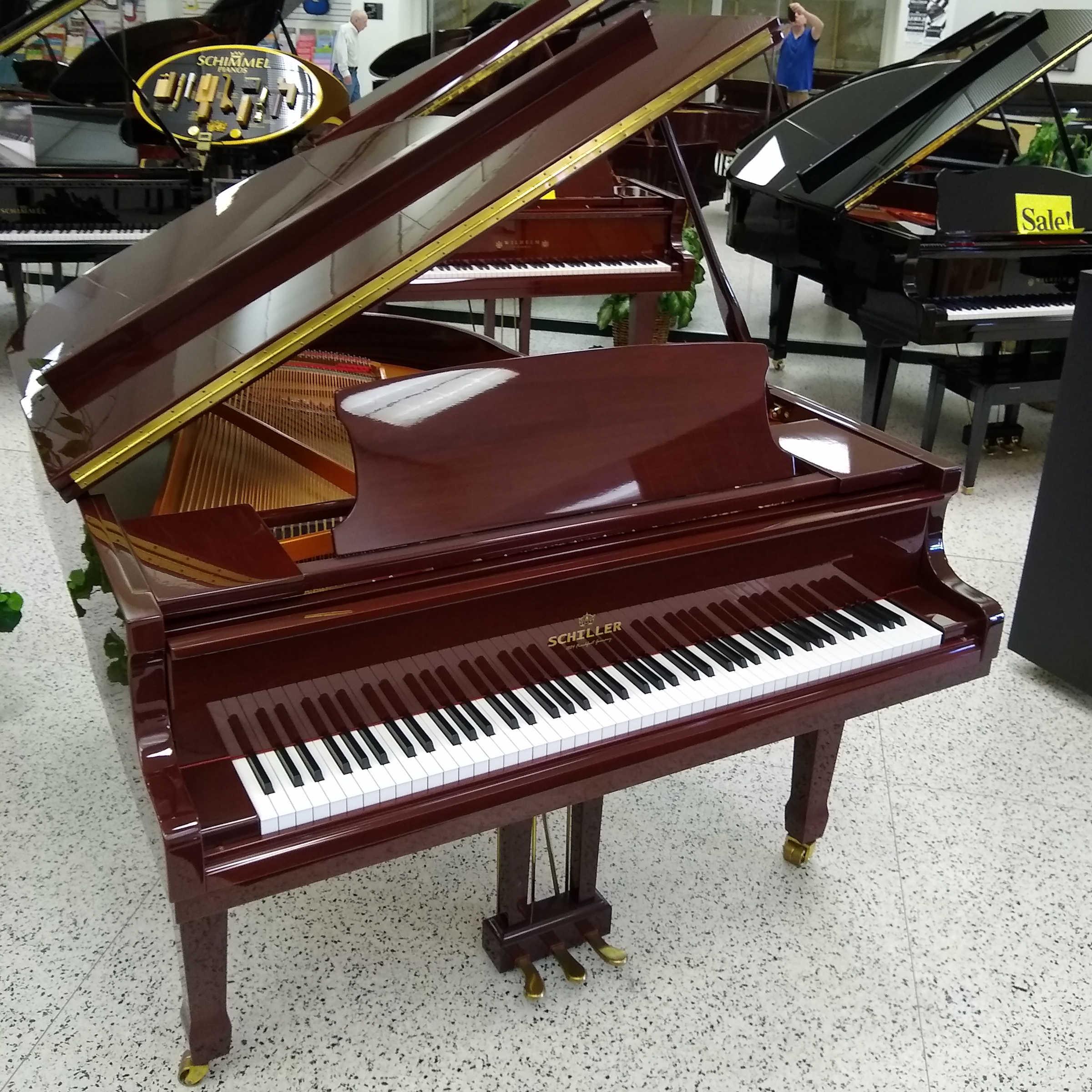 Schiller Serenity Grand Piano Mahogany Polish