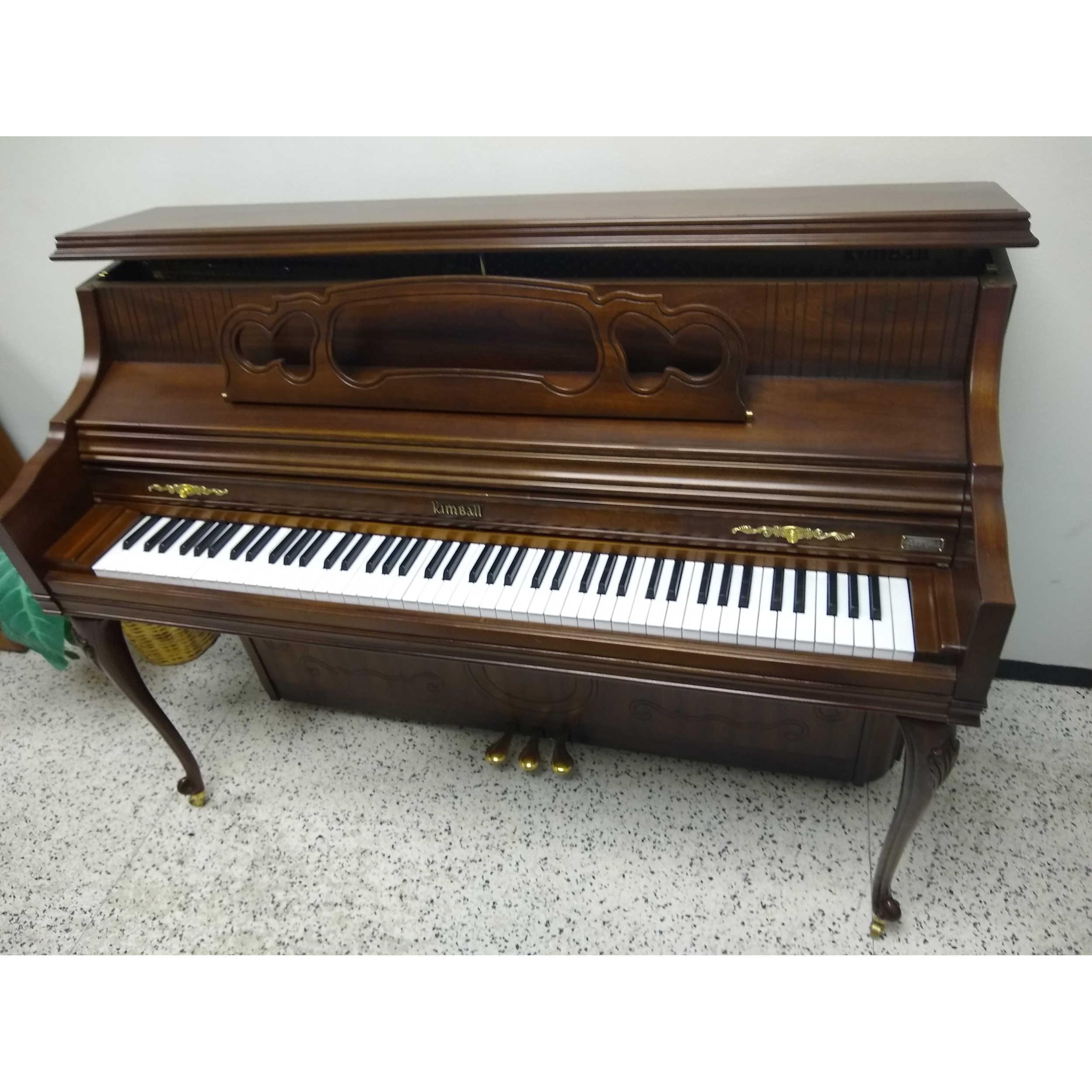 Kimball Artist Upright Piano French Cherry