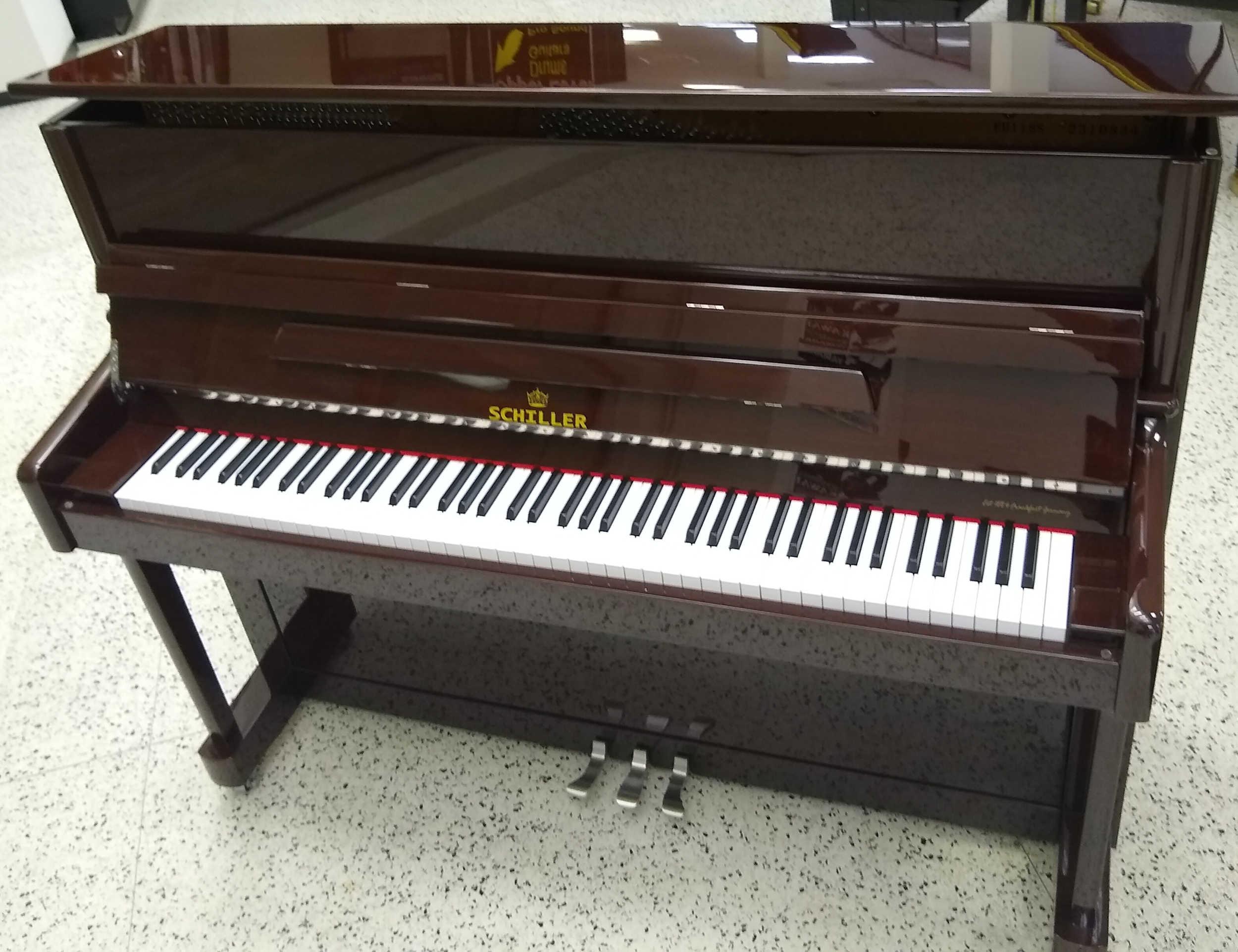 Schiller Berlin Performance Upright Piano Expresso Walnut/Chrome