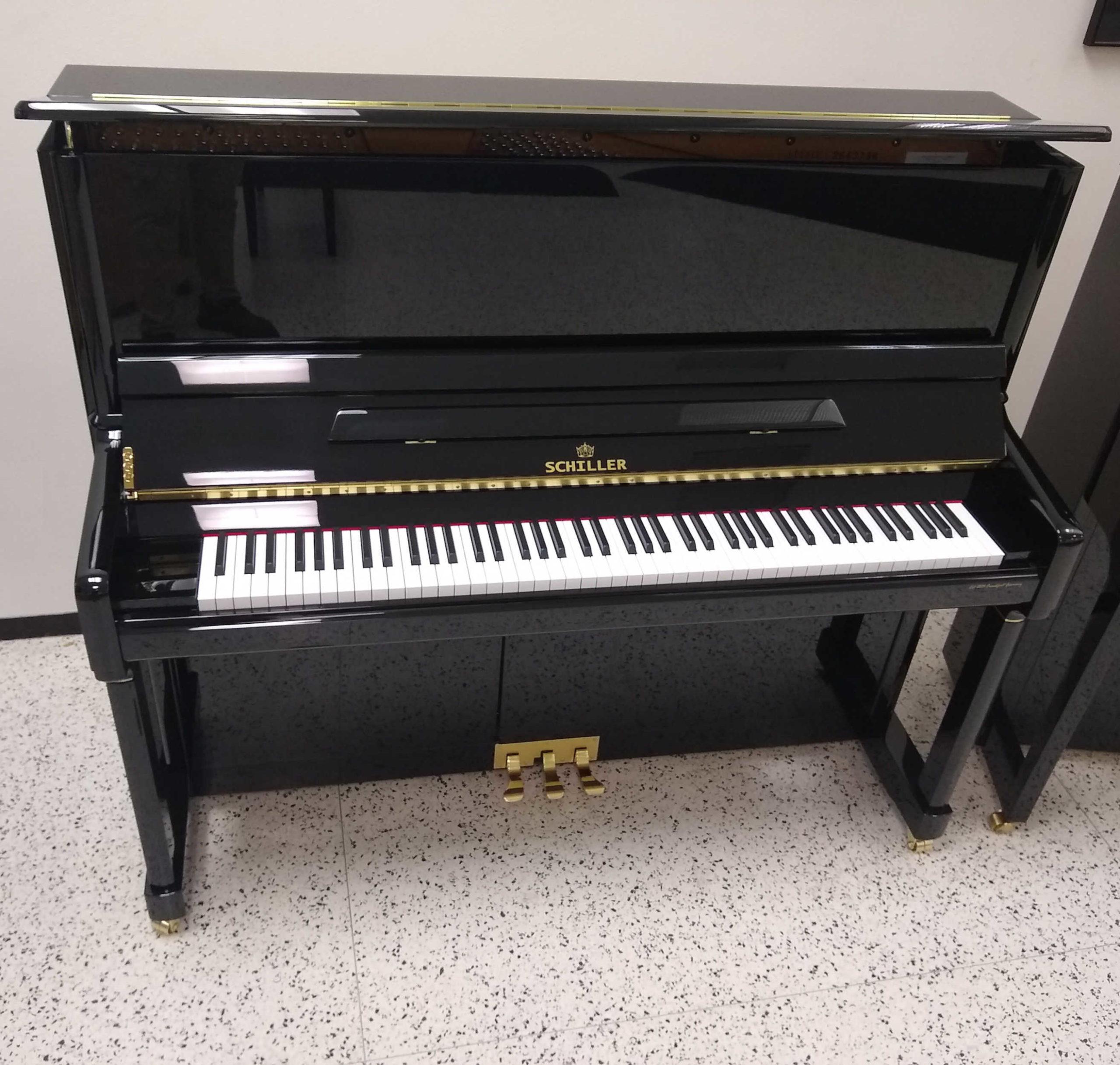 Schiller Hamburg Performance Upright Piano Black Polish 52