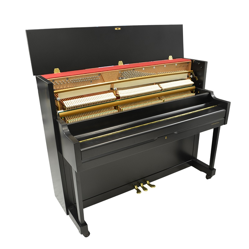 Schiller Performance Frankfurt Upright 46S Upright Piano – Ebony Satin